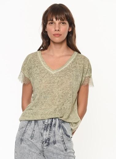 Ipekyol Kadın  Bluz IS1200070262 Yeşil